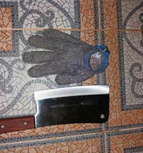 Кольчужная перчатка франция Honeywell+топорик
