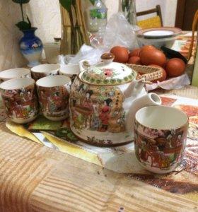 Чайный набор(чайник+6 пиал)