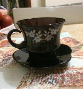 Чайный набор(6 кружек+6тарелочек)