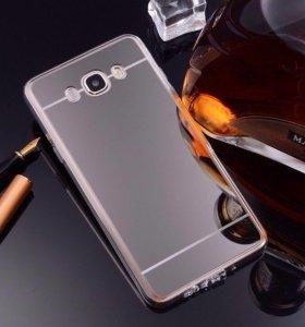 Чехол силиконовый TPU Samsung J5 зеркальный черный