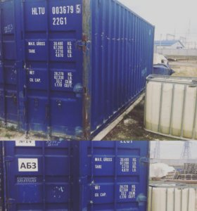 Контейнер 6 метров синий