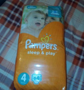 Подгузники pampers sleep&play 4( 8-14 кг) 68 штук