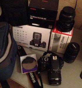 Продам Canon EOS 600D + объективы и аксессуары
