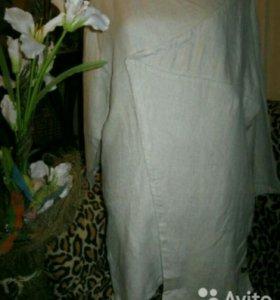 Платье-туника, лен 100 (accente)