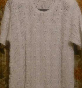 Блузка ажурной вязки 50-52