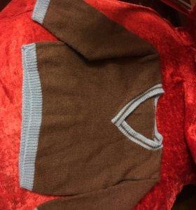 Джемпер коричневый шерсть