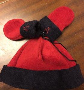Новая шапка и варежки