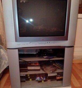 Телевизор JVC c подставкой (тумбой)