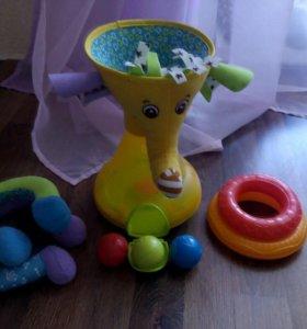 Музыкальная пирамидка с шариками Tiny Love Слоник