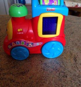 Паровозик Fisher-Price развивающая игрушка