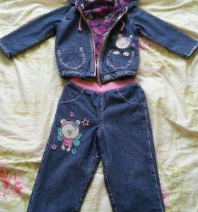 Детский джинсовый костюмчик для девочки