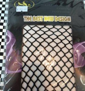 Новые колготки крупной сеткой