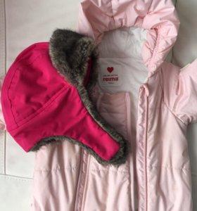 Зимний комбинезон Reima+шапка Reimatec