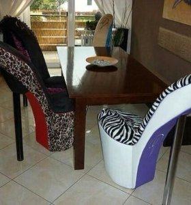 Кресло-туфелька пуфик стул