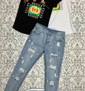 Джинсы, футболки
