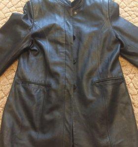 Куртка кожаная размер 48-50 2хл
