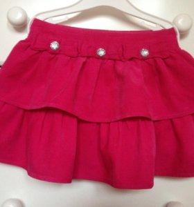 Нарядная розовая юбка