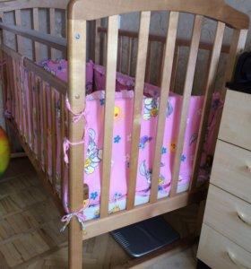 Кровать детская + матрас