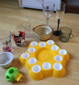 Подставка для кулича и яиц, горшочек, бокалы Zak