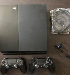 Playstation 4 (PS4) 500 Гб, 2 джойстика, 6 игр