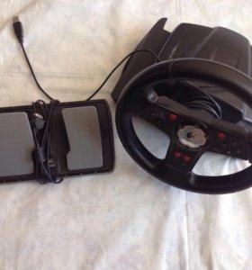 Игровой комплект руль и педали Logitech