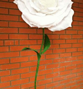 цветок из гофрированной бумаге.для декорирование с