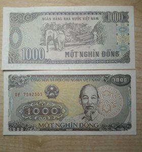 Вьетнам 1000 донг 1988г пресс.UNC