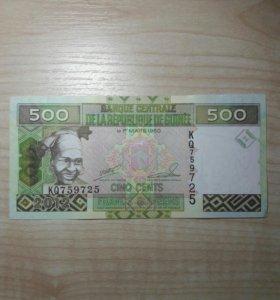 Гвинея 500 франков 2012г