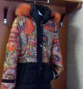Теплое зимнее пальто р152
