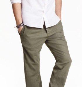 Новые льняные брюки