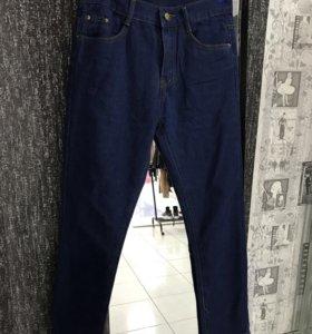 Темно синие джинсы boyfriends