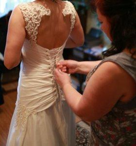 Свадебное платье цвет айвори!