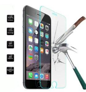 Закаленное стекло на iPhone 5 5s.