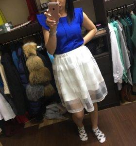 Юбки и блуза синяя