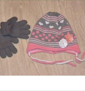 Перчатки reima и шапка