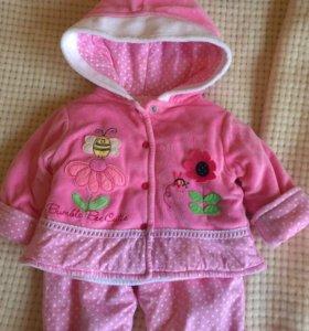 Тёплый костюмчик для девочки