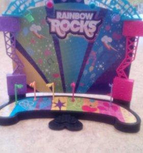 Сцена для кукол Rainbow Rocķs