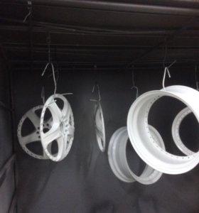 Порошковая покраска дисков, химчистка и полировка