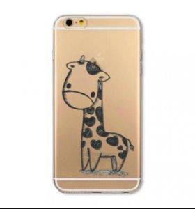 силиконовый чехол жирафик