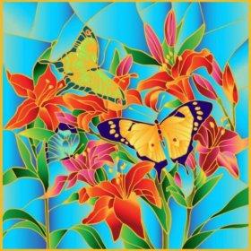 Набор для творчества Картина-витраж Бабочки