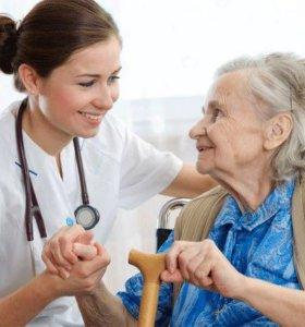 Сиделка для больных и престарелых.