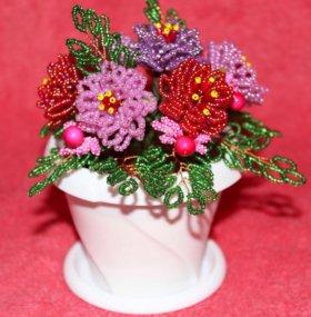 Цветы из бисера. Розочки.