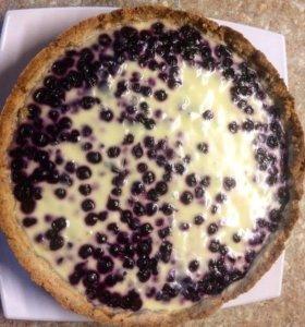 Чернично-сметанный пирог