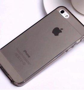 Чехол iPhone 5/5s силикон чёрный