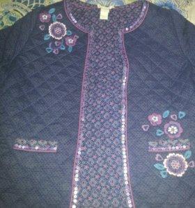 Куртка стеганая на девочку 8 -12 лет