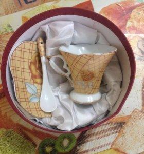 Кофейная пара+ложечка
