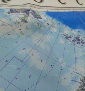 Карта России 2х3 метра