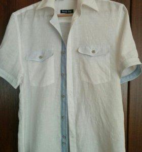Рубашка лен 100%, р. 48