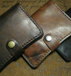 Кожаный кошелек(обложка на документы)