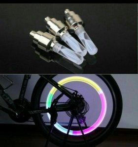 Светодиодные колпачки на велосипед